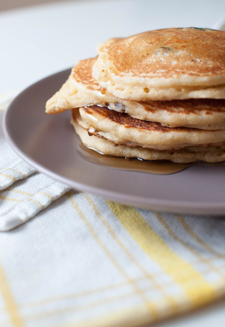 Corny Banana Blueberry Pancakes 5
