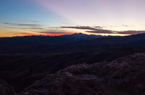 Sunset over RMNP