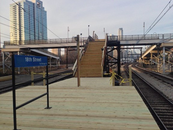 18th Street Metra Electric station renovations