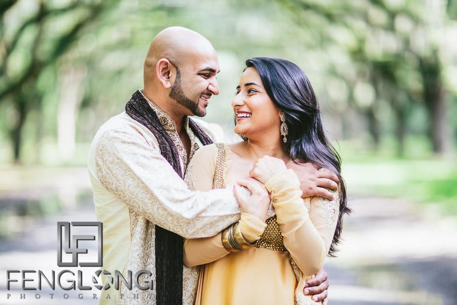 Dipal & Vinay   Savannah Destination Indian Engagement Photography