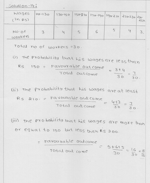 RD Sharma Class 9 Solutions Chapter 25 Probability 11