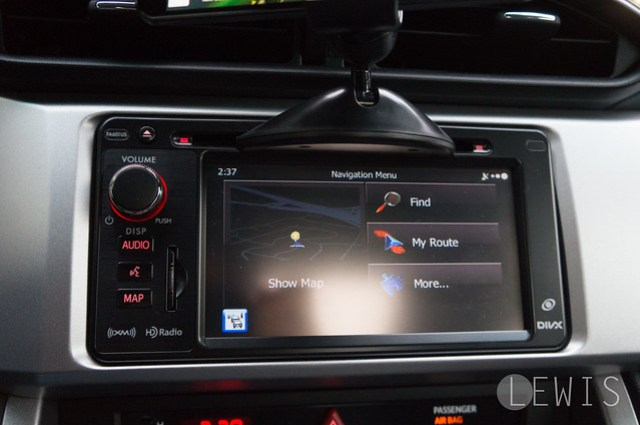 Koomus CD-Eco navigation screen