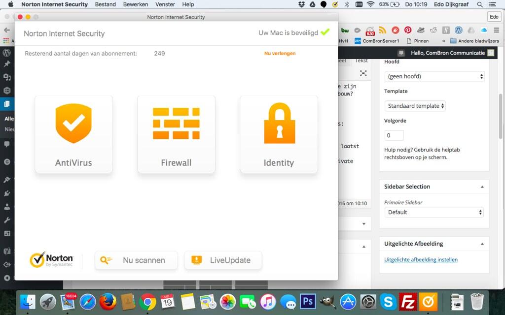 Virusscanner op een Apple MacBook