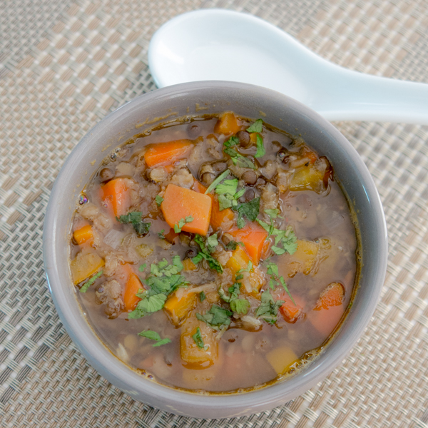 Lentil Soup with Carrots and Coriander