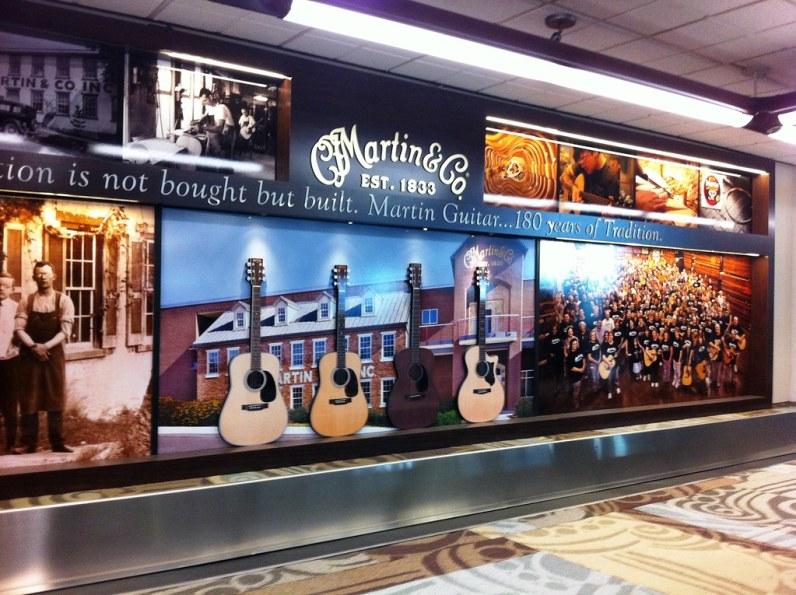Martin & Co. Ad at the Nashville Airport, Nov. 2014