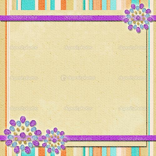 background   in scrapbook style in beige, cyan, orange, violet