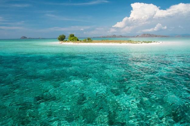 Desert island. Komodo