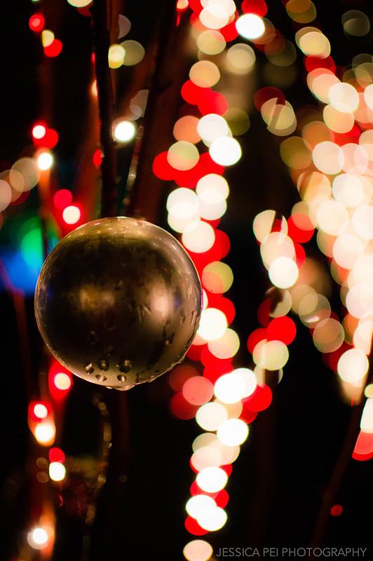Christmas Ornament Bokeh Lights at Garden Glow St. Louis