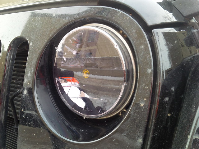 kc led headlights in the jeep