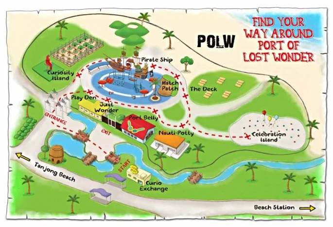 Map of Port of Lost Wonder