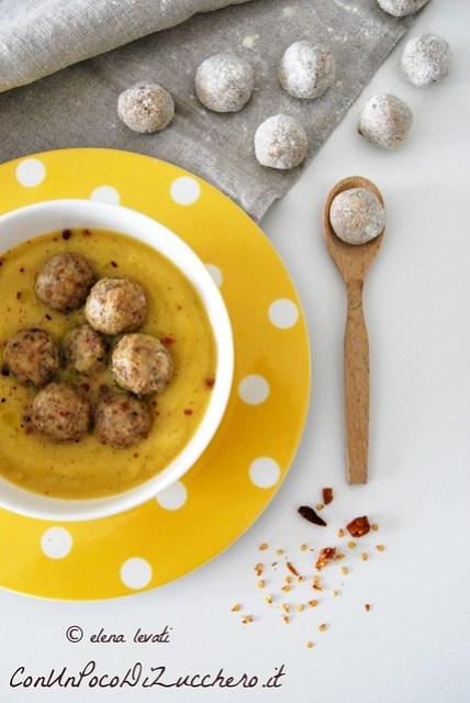 Vellutata d'inverno e gnocchetti di pane - Winter soup and bread dumplings