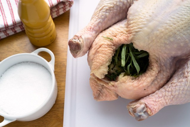 capon stuffed with herbs