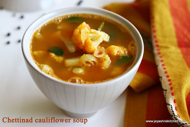 Chettinad- cauliflower -soup
