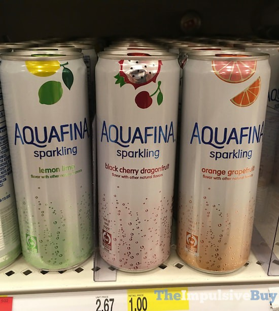 Aquafina Sparkling (Lemon Lime, Black Cherry Dragonfruit, and Orange Grapefruit)