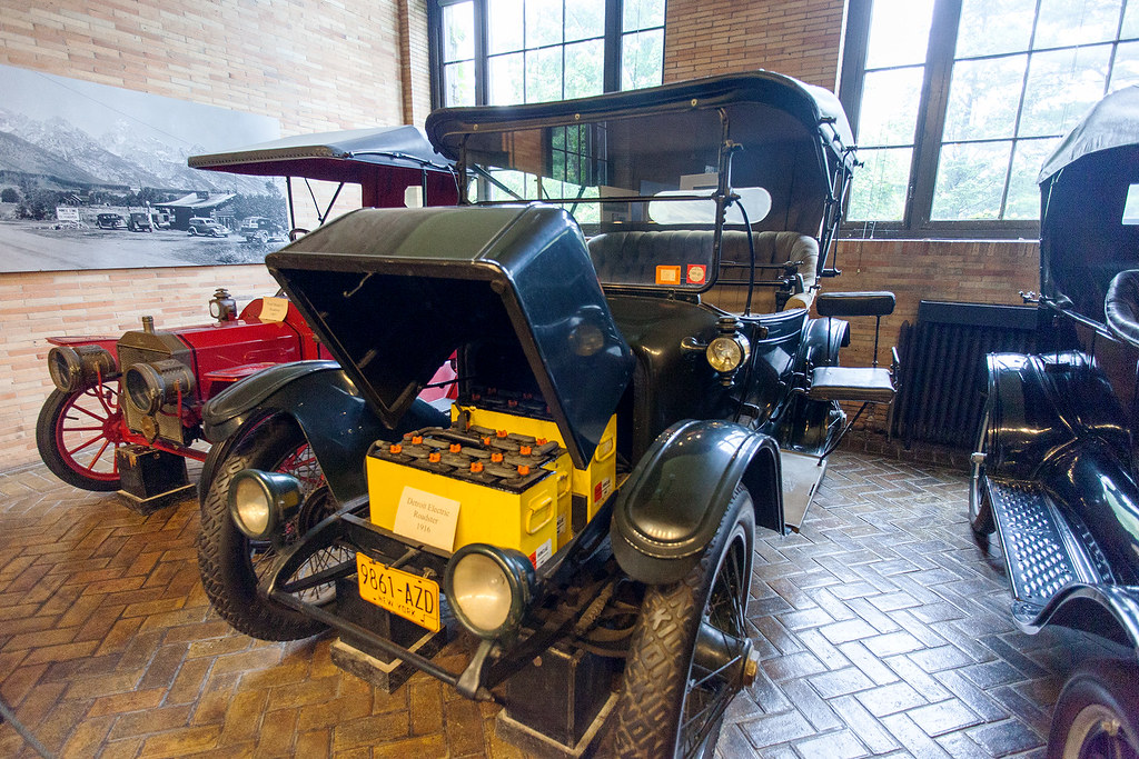 Electric cars are nothing new, 1918 Detroit electric car.