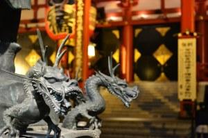 Dragon Fountain at Sensō-ji Temple