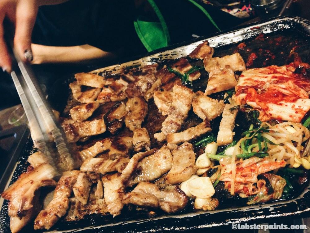 2 Oct 2014: Korean BBQ @ Sinsa-dong Garosu-gil | Seoul, South Korea
