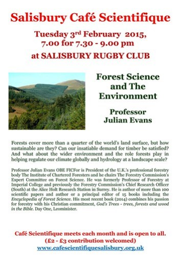 Poster for Prof Julian Evans