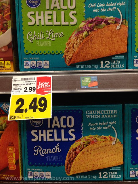 Kroger Chili Lime and Ranch Taco Shells
