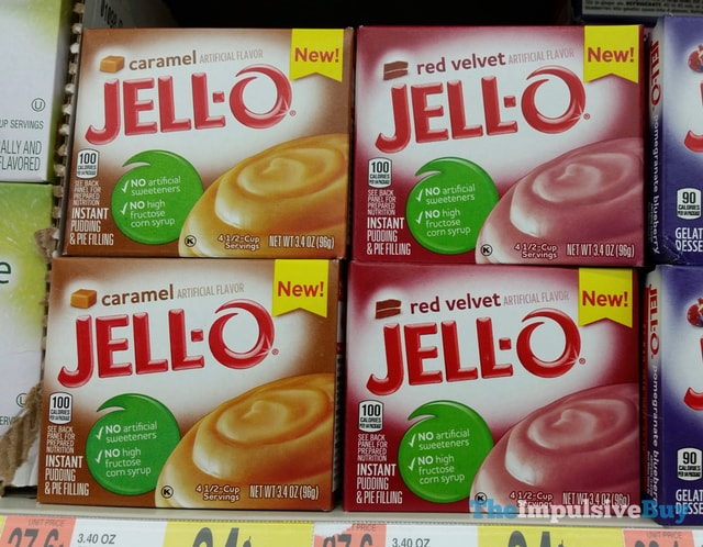 Jello Caramel and Red Velvet Instant Pudding
