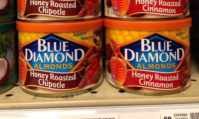 Blue Diamond Almonds Honey Roasted Chipotle and Honey Roasted Cinnamon