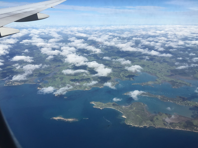 ニュージーランド上空