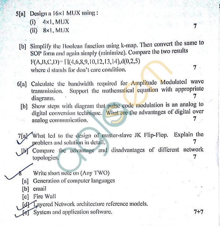 DTU: Question Papers 2012 – 1 Semester - End Sem - IT-106