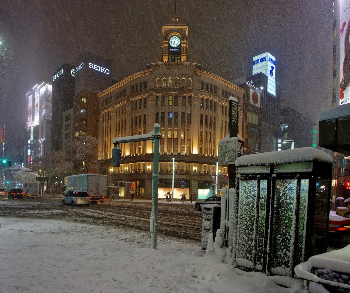 Ginza in Snow : Clock Tower