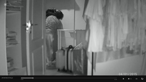 ภาพวิดีโอที่บันทึกเวลาที่ระบบตรวจพบการเคลื่อนไหว