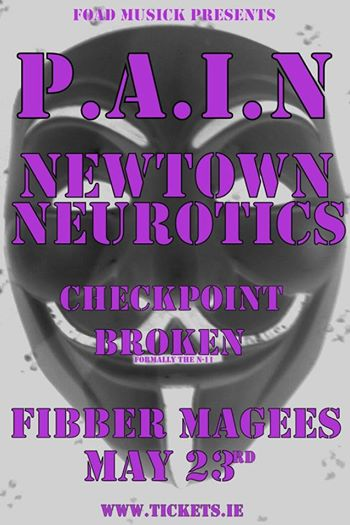 P.A.I.N - May 23rd 2015 Fibber Magees