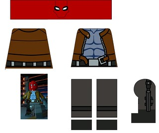 Lego Red Mask Decal