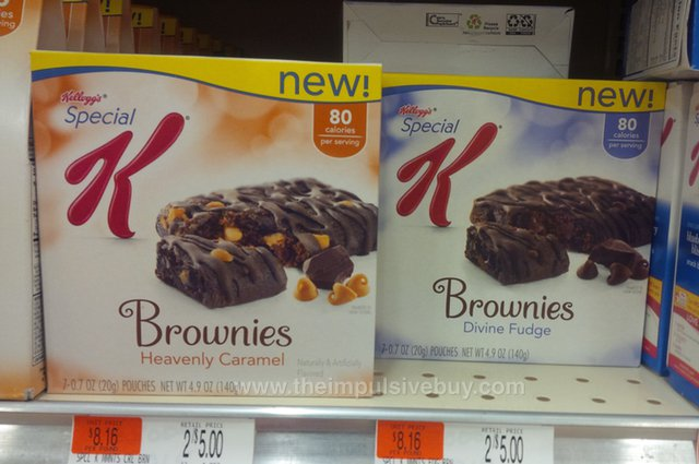 Kellogg's Special K Brownies (Heavenly Caramel and Divine Fudge)