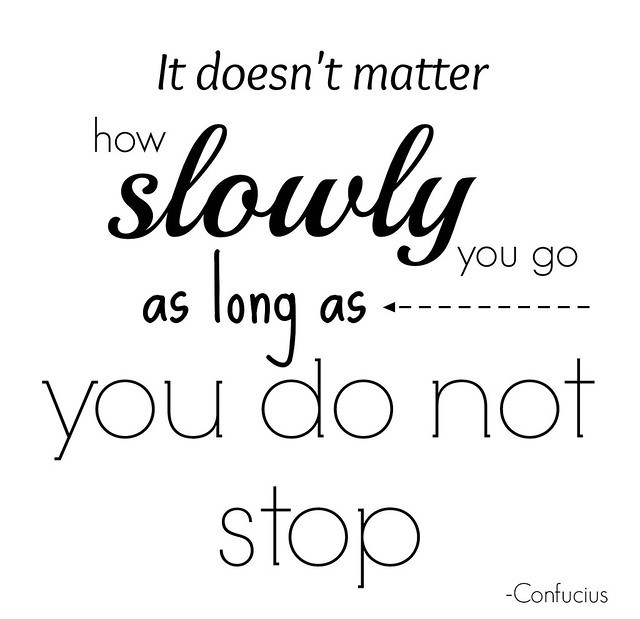 go slow don't stop