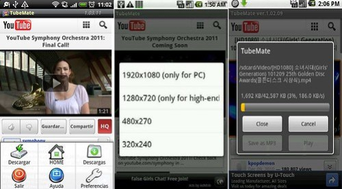 TubeMate Youtube Downloader: App para descargar videos de Youtube