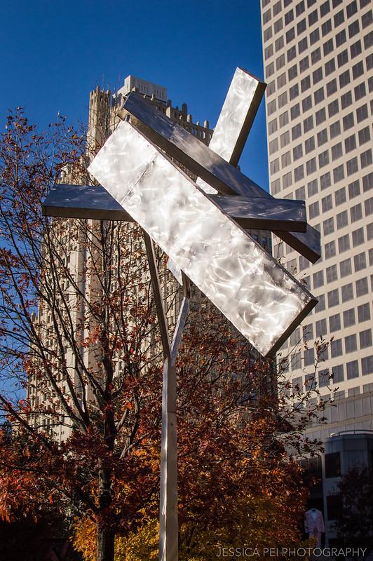 Metal Statue in Citygarden St. Louis