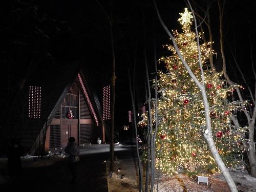 高原教会のクリスマスイルミネーション