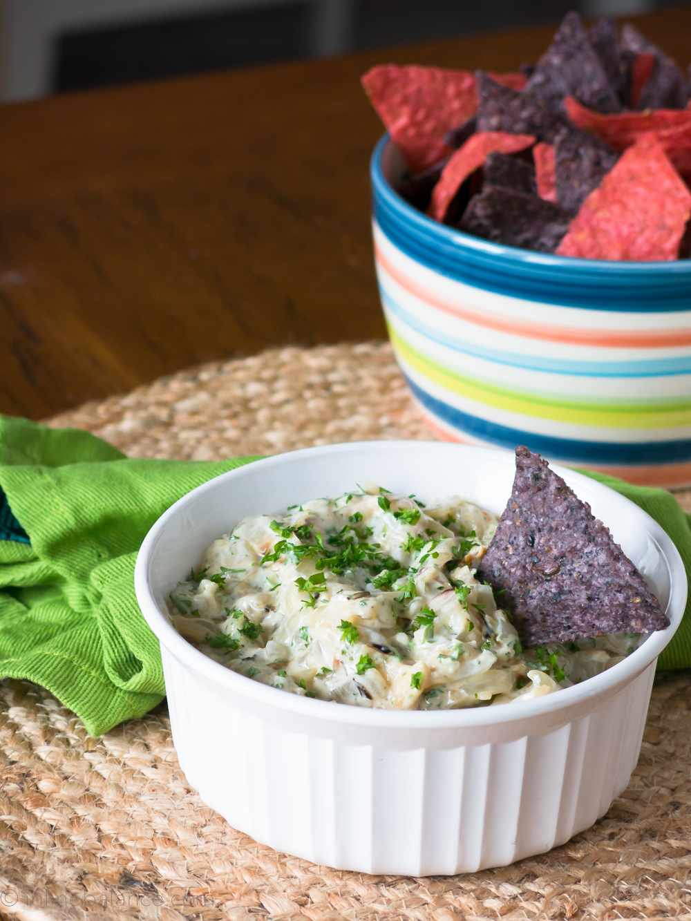 Roasted Sweet Onion Dip | infinebalance.com #gluten-free #vegetarian #recipe
