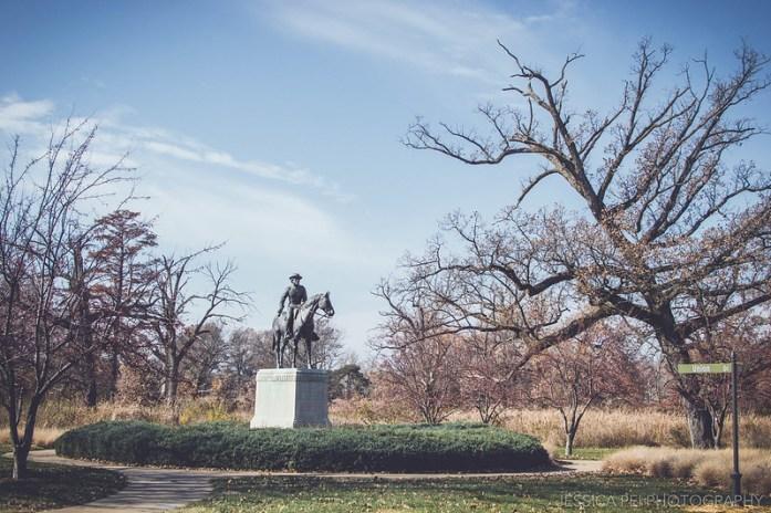 St. Louis Forest Park Cowboy Statue