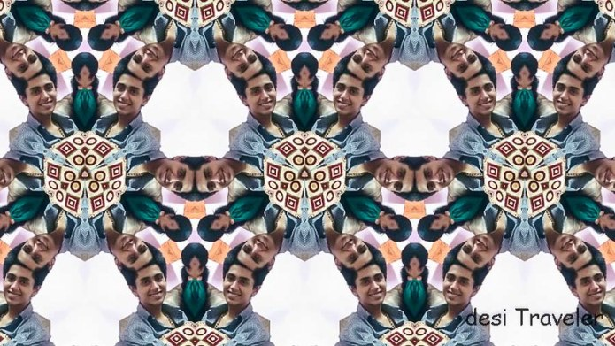 Portrait with Kaleidoscope effect
