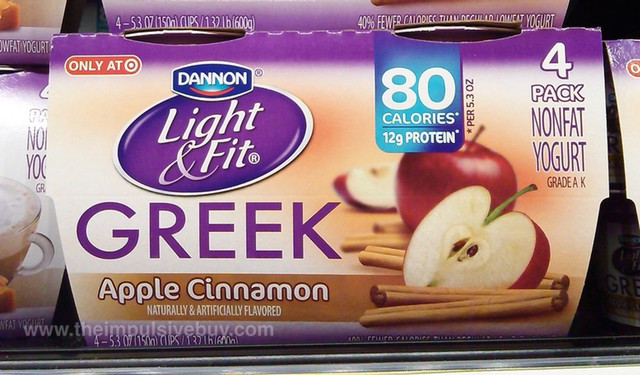 Dannon Light & Fit Apple Cinnamon Greek Yogurt
