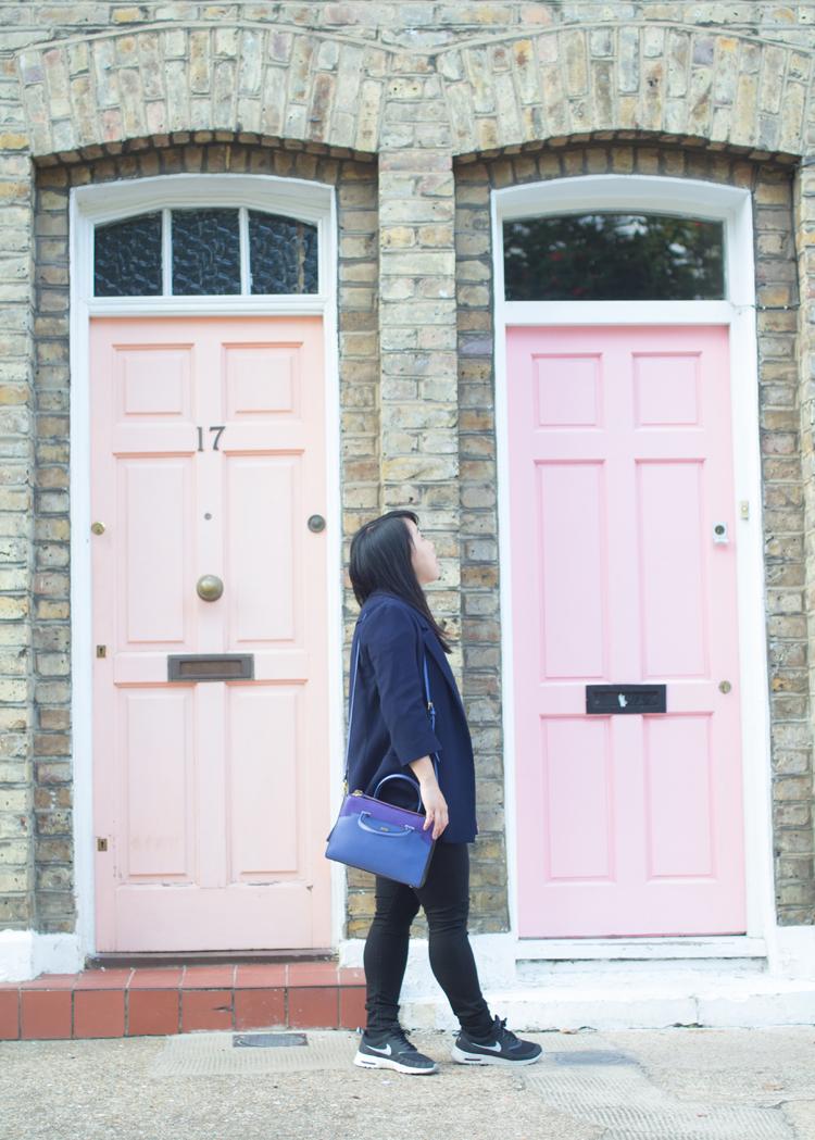 Pink Doors MCM Outfit Walking