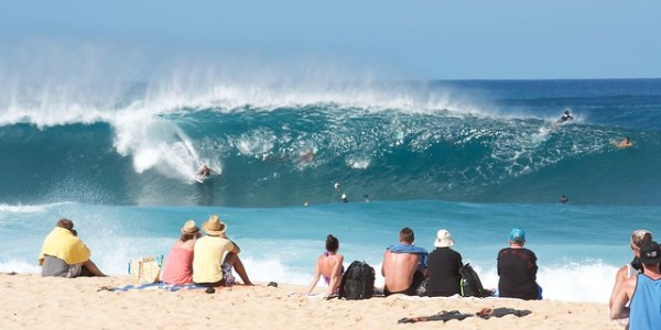 Surfing on North Shore, Oahu