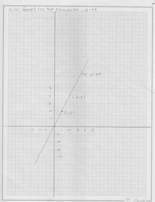 RD Sharma Class 9 Solutions Chapter 13 Linear Equations in Two Variables 16.