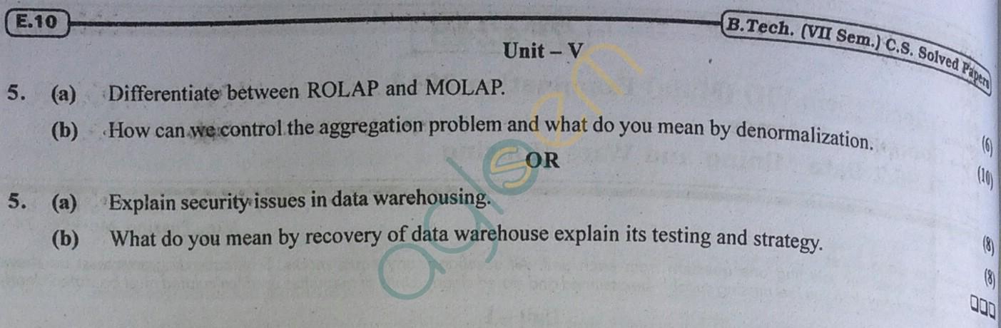RTU: Question Papers 2013 - 7 Semester - CS - 7E4243