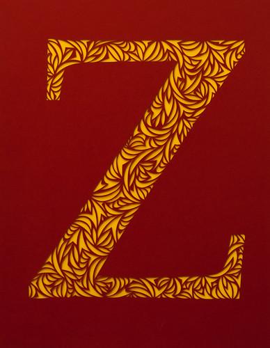 Paper Cut Letter Z