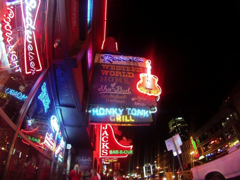 Broadway at Night, Nashville, Tenn., Nov. 20, 2014