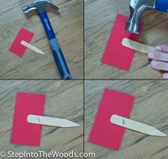 Hammer Staple Ends Down