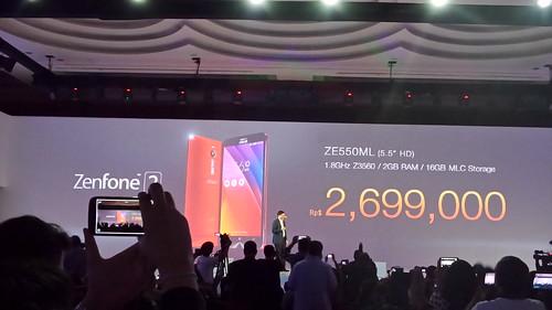 ราคา Zenfone 2 รุ่น ZE550ML RAM 2GB Storage 16GB ในอินโดนีเซีย