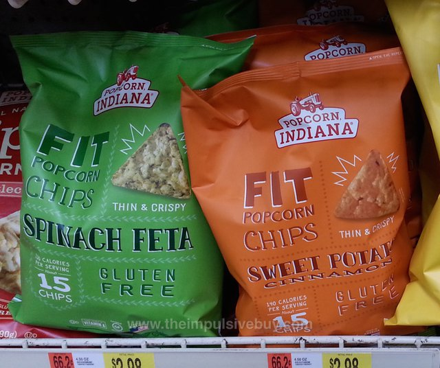 Popcorn Indiana Fit Popcorn Chips (Spinach Feta and Sweet Potato Cinnamon)