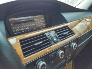 2008 BMW iDrive radio interface